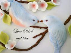Fondant Molds for Bas Relief Love Bird Couple Wedding Cake Decoration