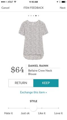 Daniel Rainn Bellaire Crew Neck Blouse - Stitch Fix 2017. I love Stitch Fix! A personalized styling service and it's amazing!! Simply fill out a style profile with sizing and preferences. Then your very own stylist selects 5 pieces to send to you to try out at home. Keep what you love and return what you don't. Only a $20 fee which is also applied to anything you keep. Plus, if you keep all 5 pieces you get 25% off! Free shipping both ways. Schedule your first fix using the link below…