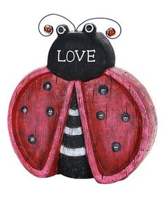 Look what I found on #zulily! 'Love' Ladybug Marquee Solar LED Statue #zulilyfinds