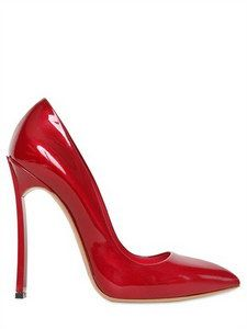 CASADEI - 120MM PATENT LEATHER BLADE ONE PUMPS