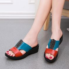 The new mom summer fashion sandals and slippers soft soled casual female slippers flat slippers with. Click visit to buy #WomenSlipper #Slipper