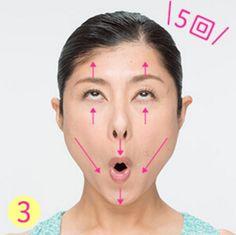 顔ヨガ④:目元スッキリ!ムンクの顔 ムンクのポーズ 下眼瞼筋を中心に目の下の筋肉を刺激 まずは目元をすっきりさせるムンクの顔からスタートしてみましょう! おでこに力が入ったりシワができないように注意してください。 口を「お」の形に開いたら、そのまま目線を上げて鼻の下と目で顔を上下に引っ張っていきましょう。 そのまま下まぶたをゆっくり上へと持ち上げる感覚で5回動かします。