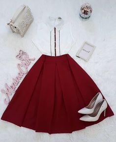 Usariam? Skirt Outfits, Chic Outfits, Pretty Outfits, Pretty Dresses, Beautiful Outfits, Modest Fashion, Fashion Dresses, Short Frocks, Mein Style
