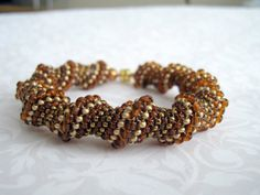 topaz and gold woven beads - perfect!