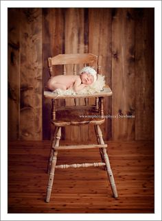 Old Wooden High Chair.  Photo Prop.
