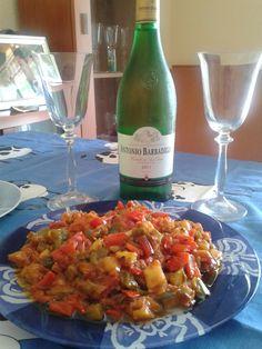 Este es un plato riquisimo, preparado con verduras, y muy rico, para acompañar, cualquier pescado, carne, o simplemente comerlo con pan....