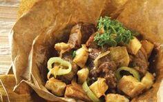 Συνταγή για γκιούλμπασι στη γάστρα με τυριά. αρνάκι χοιρινό, μοσχαράκι γάλακτος.