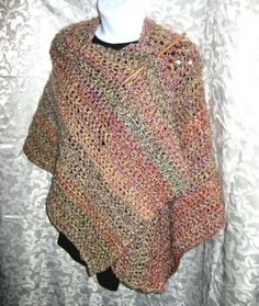 Ruana Wrap or Shawl, PDF Crochet Pattern, Your Hook Your Yarn series, Digital download. $5.00, via Etsy.---use smaller hook