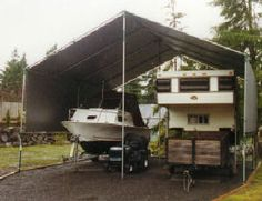 1000 images about boat weather protection on pinterest for Boat garage kits