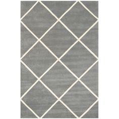 Varick Gallery Wilkin Dark Grey & Ivory Area Rug Rug Size: