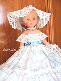 Nancy en particular: tutoriales Nancy Doll, Bride Dolls, Bobbin Lace, Doll Clothes, Barbie, Flower Girl Dresses, Wedding Dresses, Womens Fashion, Vintage