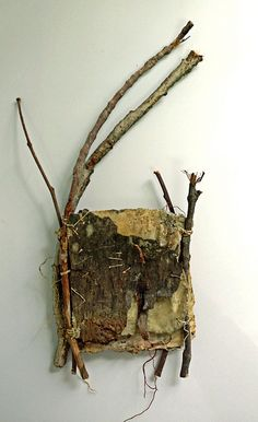 "⌼ Artistic Assemblages ⌼ Mixed Media, Journal, Shadow Box, Small Sculpture & Collage Art - Walking the Earth""  mixed media encaustic book,from Bridgette Guerzon Mills"