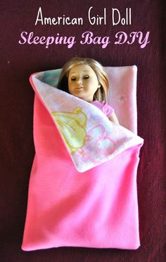 My daughter got an American Girl doll for Christmas this year, and I got a sewing machine that we both have been excited to try out.  For our first project I thought we would go easy, since we both are VERY novice sewers.  I found a tutorial for making a sleeping bag for an American …