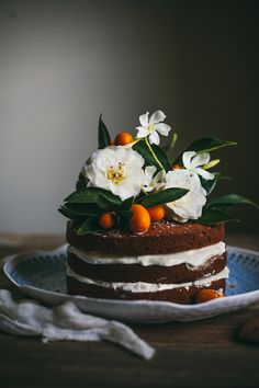 thedinnerconcierge:  Brown Butter Pumpkin Cake with Whipped Cream Cheese + Honey @ Adventures In Cooking