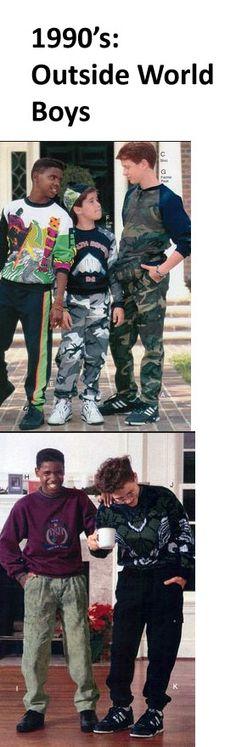 Outside World (outside of Arcadia) Fashion: 1990s. Boy's Fashion.    Arcadia  -  Paradox  -  Cheryl Feeley