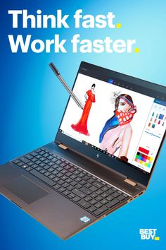 Wanna get stuff done fast? Get the power of Intel. An Gen Intel Core Processor is fast and powerful. Teamed with Windows Ink, it's perfect for the classroom and the dorm room. You can edit homework, capture notes, create lists and more. And remember, Create List, Think Fast, Laptops For Sale, Just Peachy, Teacher Appreciation Gifts, Cool Things To Buy, Stuff To Buy, Tech Gadgets, Lower Back Tattoos