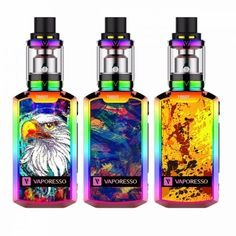 Vaporesso Tarot Nano 80w Starter Kit with Veco Tank is powered by a built-in battery with 2500mAh capacity and the output can be reached to 80W, featuring a 2ml tank capacity.