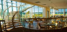 staircase in hotel resturant Country House Hotels, Interior Stairs, Menu Restaurant, Entrance, Dining, Places, Room, Wedding Photos, Reception
