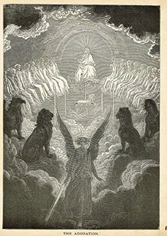 Gustave Dore's Illustration - THE ADORATION - Woodcut - c1880