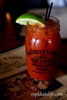 Puckett's in Nashville. Bloody Mary in a mason jar was much needed.