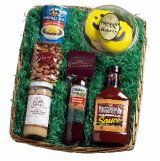 Welcome to Cincinnati Gift Basket - A great mix of sweets and sauces!  Product Contents  Graeter's Assorted Chocolates Graeter's Honey Toasted Nuts Skyline Chili Busken Bakery Cookies Izzy's Dusseldorf Mustard Hillshire Farms Summer Sausage Montgomery Inn BBQ Sauce