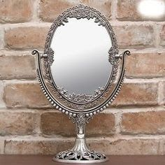 Antique Vintage Vanity Sets Round Vanity Mirror Marble Stand Furniture Target Wall Large Antique Brass Pedestal Vanity Mirror Go In 2020 Standing Mirror Makeup Mirror
