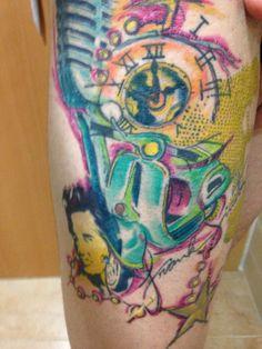 Vespa tattoo tattoos by davinia do santo pinterest for Macon tattoo shops