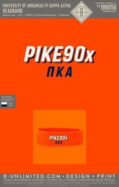 Pi Kappa Alpha Headband   Fraternity Event   Greek Event #pikappaalpha #pike #pka Pi Kappa Alpha, University Of Arkansas, Fraternity, Beanies, Greek, Hats, Design, Beanie Hats, Hat