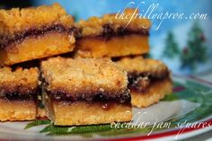[Recipe] MacLaren's Imperial Cheddar Jam Squares @thefrillyapron