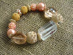 Apricot Colored Mahjong Bracelet - Jesse James Beads Jewelry - Mah jong Jewelry by MahjongJewelry on Etsy