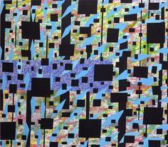 Szirtes János: Helló / Hello, 2011, 110 x 125 cm, akril, vászon / acrylic on canvas