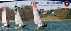 We sail our beautiful fleet of 420s from the Clyde Kelly Pavilion at our waterfront. www.christchurchschool.org