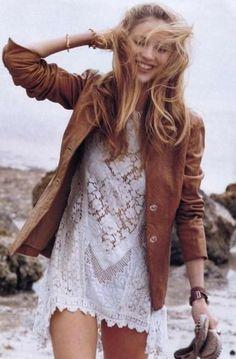 Lace with a blazer