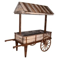 Rent Pergola For Wedding Product Wooden Cart, Wooden Food, Wooden Diy, Wooden Wagon, Vendor Cart, Food Cart Design, Vegetable Shop, Sweet Carts, Flower Cart