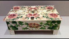 Decoupage Tutorial, Decoupage Box, Decoupage Vintage, Fruit Box, Painted Leaves, Wood Boxes, Crates, Decorative Boxes, Scrap