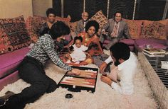 #TBT This photo was taken from a #Vintage 1972 Life Magazine​ and features #DianaRoss in her living room with friends and family. We love the global prints and embroideries that surround them.
