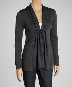 I love that this is really simple and looks so comfortable... but the added gathering makes it different.  #zulilyfinds