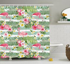 Flamingo Decor Shower Curtain Set By Ambesonne, Flamingos... https://www.amazon.com/dp/B01IRHO9L8/ref=cm_sw_r_pi_dp_x_M4qQybWBH97B3