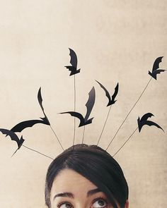 Bat Headband - Martha Stewart Halloween.  I like this for the party.  Except with something other than bats...