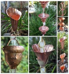 Beautiful Copper Rain Chains