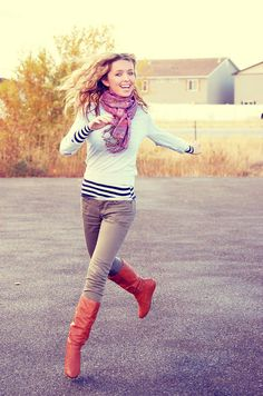 so cute! Love the red boots