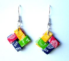 Pop's Boutique: New Upcycled Jewellery - sweet wrappers.