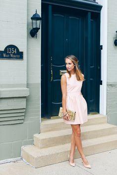 sequin back dress, pink dress —via @TheFoxandShe