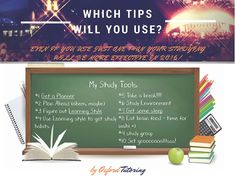 With finals right around the corner, check out some study tips personally recommended by the Oxford Tutoring staff.