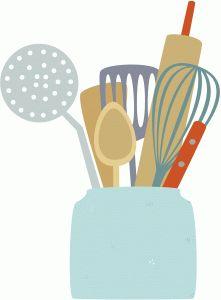 Silhouette Design Store - View Design #74467: jar of cooking utensils