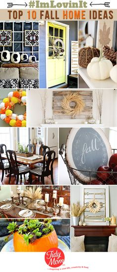 Top 10 Fall Home Decor and Crafts at TidyMom.net @tidymom