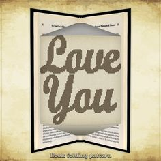 Book folding pattern Love You for 287 folds - ID0621335