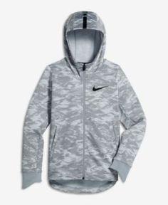 Nike Therma Full-Zip Hoodie, Big Boys (8-20) - Black XL