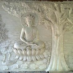 29 Ideas for painting inspiration quotes frames Clay Wall Art, Mural Wall Art, Mural Painting, Paintings, Painting Quotes, Buddha Wall Art, Buddha Painting, Wall Sculptures, Sculpture Art