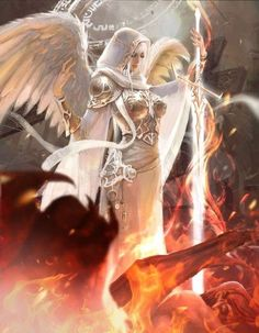 Art featuring angels and holy winged creatures. Fantasy Art Angels, Fantasy Art Women, Fantasy Girl, Fantasy Artwork, Angel Warrior, Fantasy Warrior, Fantasy Character Design, Character Art, Elfen Fantasy